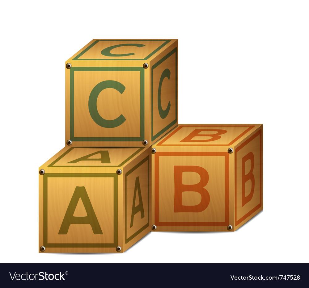 Wooden alphabet letter boxes.
