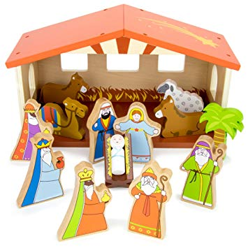 Buy O Holy Night Wooden Nativity Set.