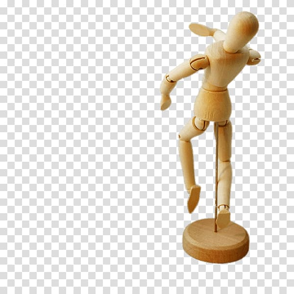 Brown wooden mannequin, Small Wooden Articulated Mannequin.