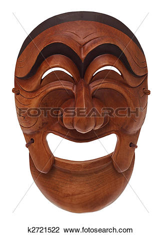 Stock Photo of Korean wooden mask k2721522.