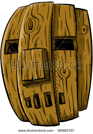 Wooden Mask Stock Photos, Royalty.