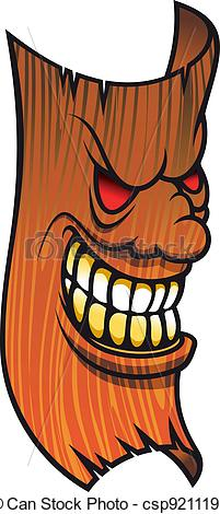 Clip Art Vector of Angry face mask.