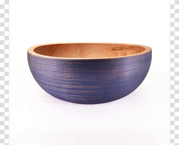 Bowl Cobalt blue, Wooden Bowl transparent background PNG.