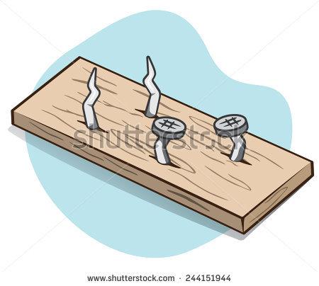 Wood Nail Stock Images, Royalty.