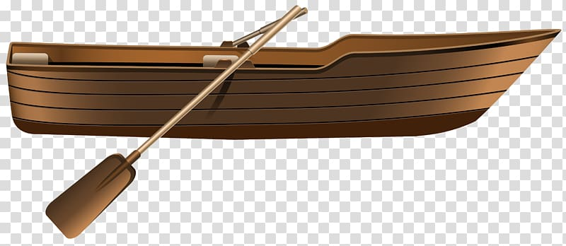 Brown wooden boat with oars , WoodenBoat Paddle , Boat Icon.