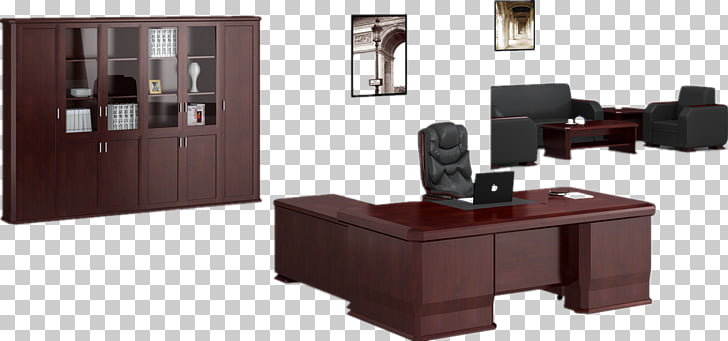 Table Office Desk Furniture, Wood desk PNG clipart.