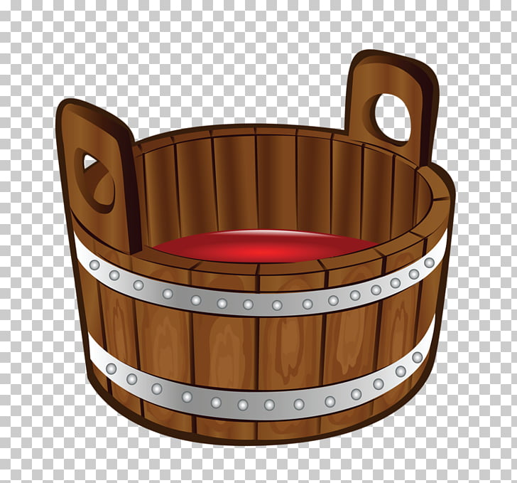 Wood Barrel Paint, Bucket cask PNG clipart.