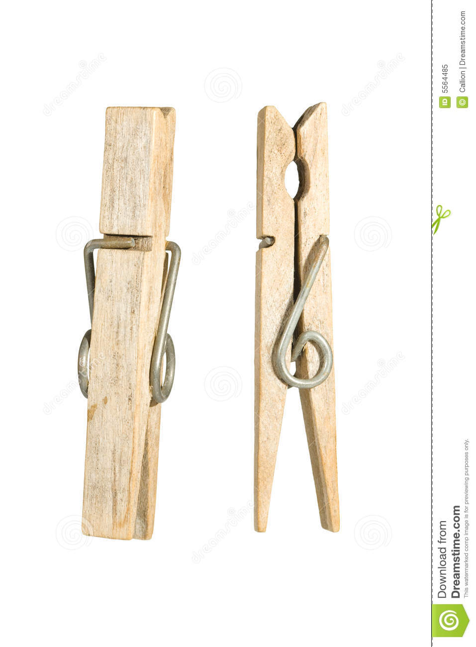 Old Peg Side And Front View Royalty Free Stock Photo.