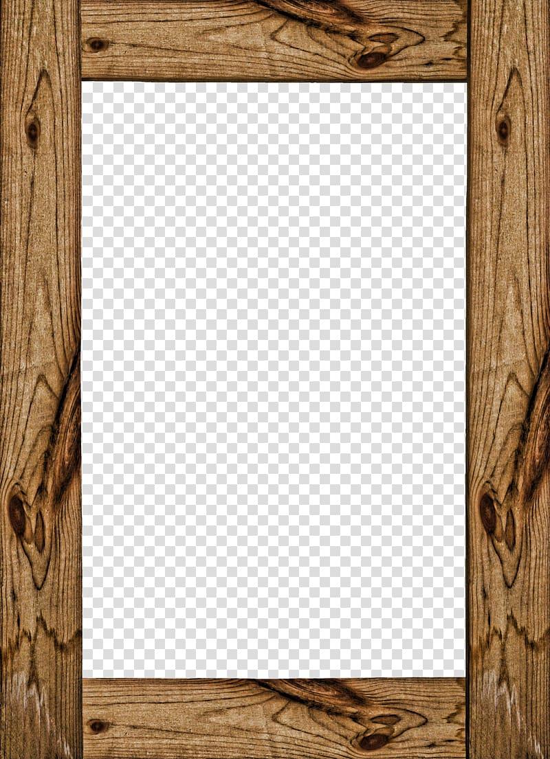 Brown wooden frame , Wood frame , Wood frame transparent.