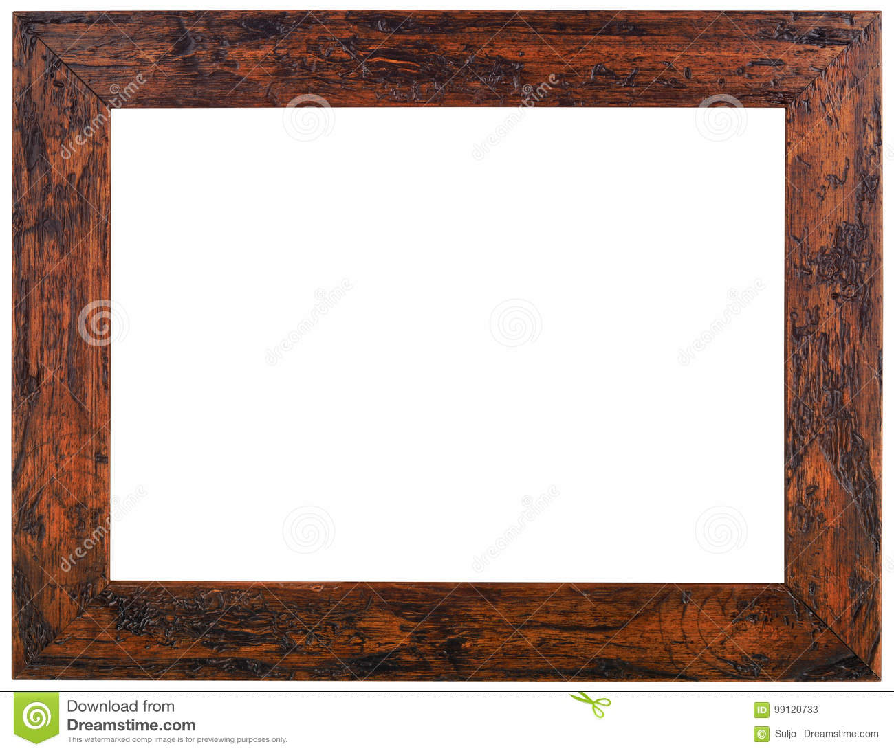 Old Wooden Frame Cutout stock image. Image of mirror.