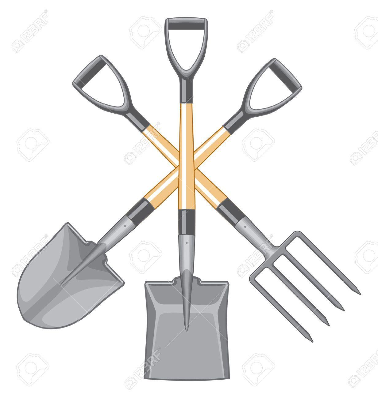 pitchfork garden tool clip art.