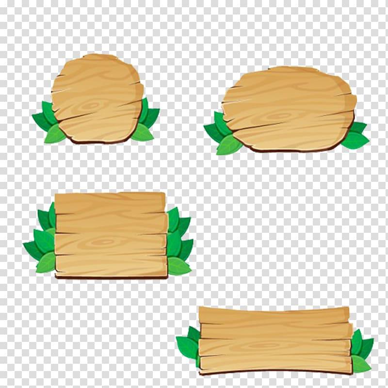 Brown wood planks illustration, Wood Signage, Free matting.