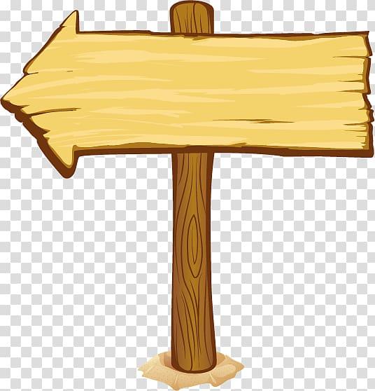 Brown wood log arrow signage, Wood Cartoon Nail , Cartoon.