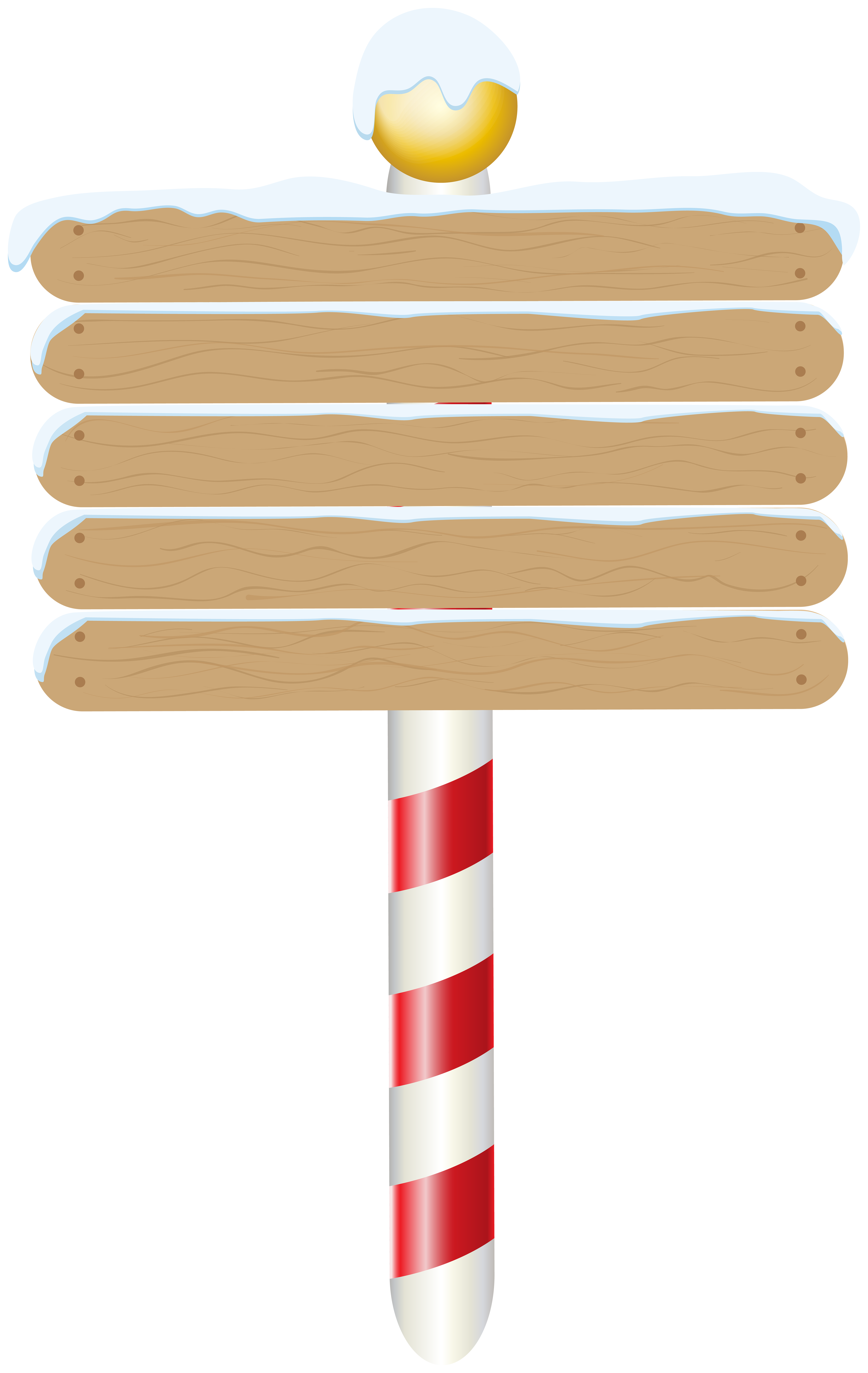 Christmas Empty Wooden Pole Sign PNG Clipart.