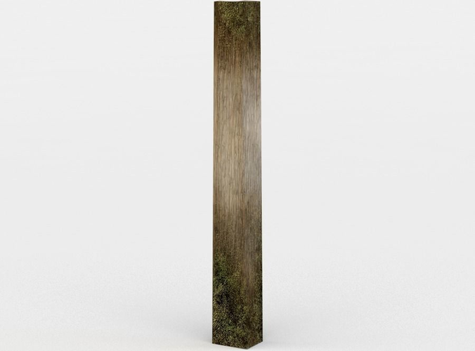 Wooden fence pole.