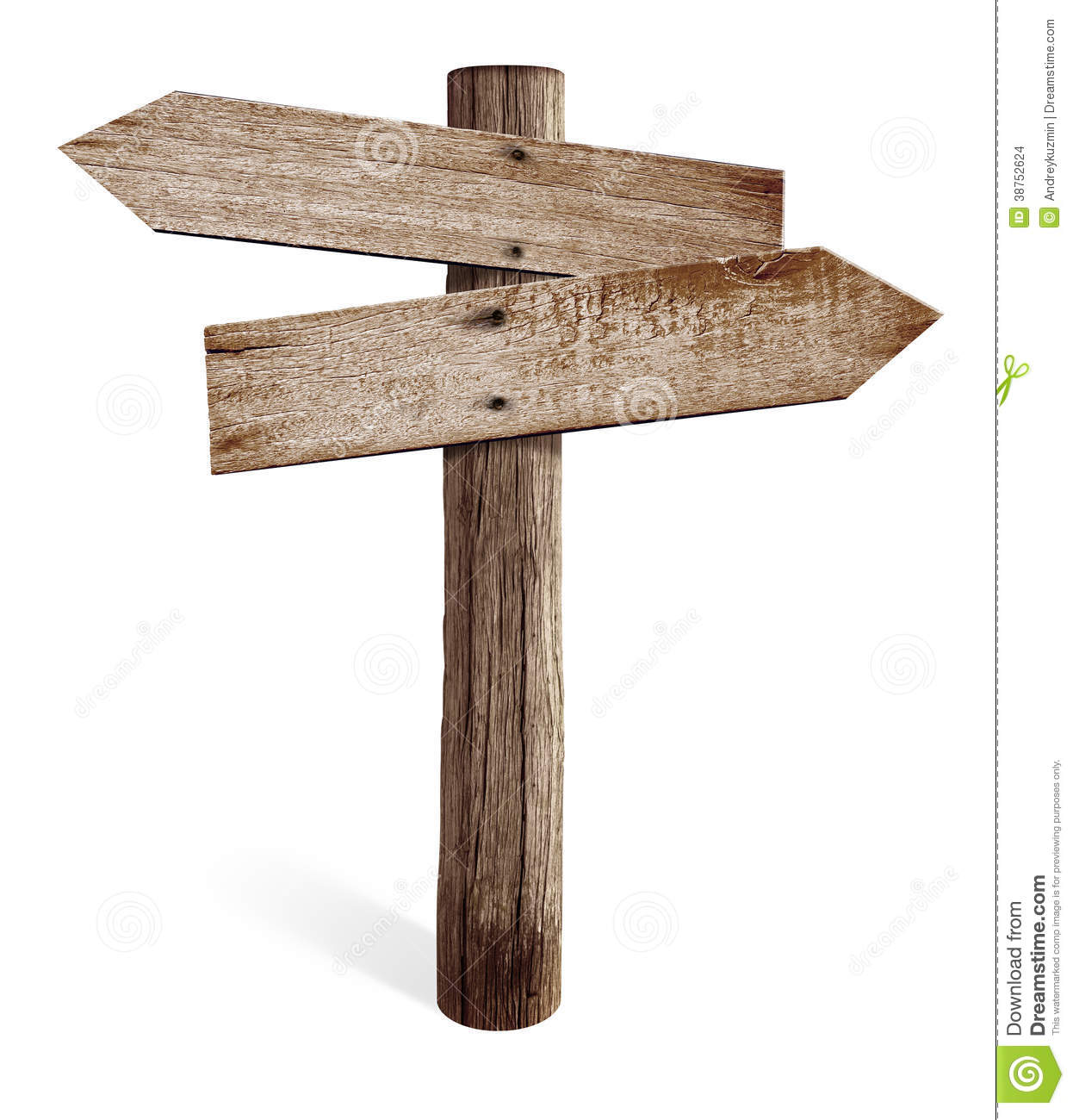 Wooden Road Sign Clipart.