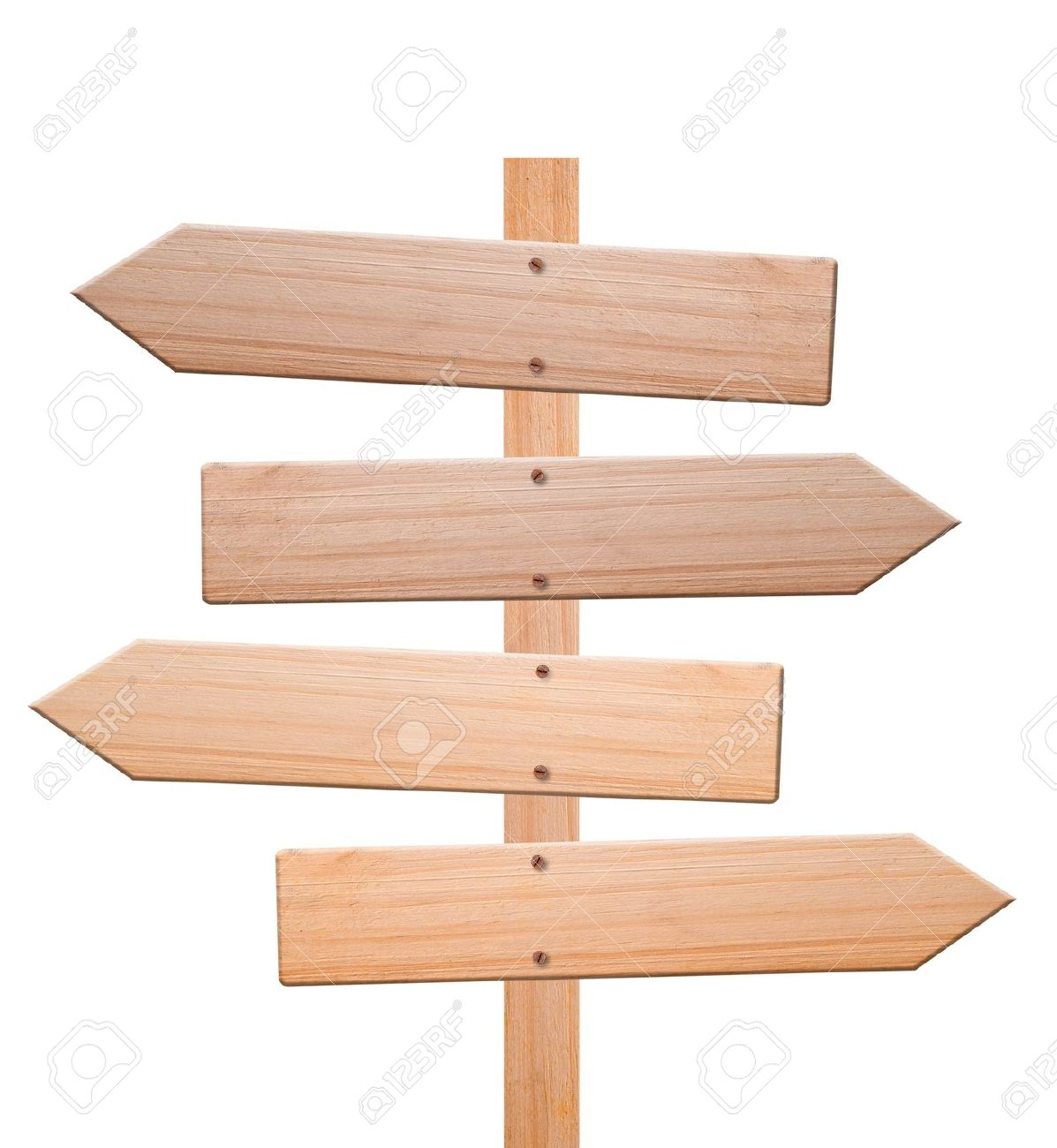 Wood Arrow Sign Clipart.