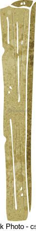 Clip Art Vector of cartoon wooden post csp18433761.