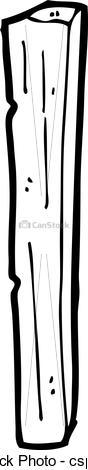EPS Vector of cartoon wooden post csp17733246.