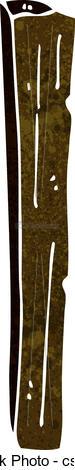 Vector Clipart of cartoon wooden post csp19695902.