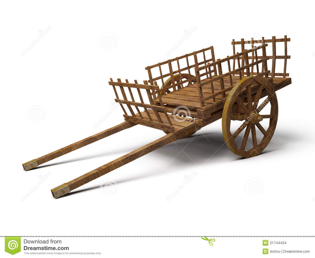 Wood Cart Clipart.