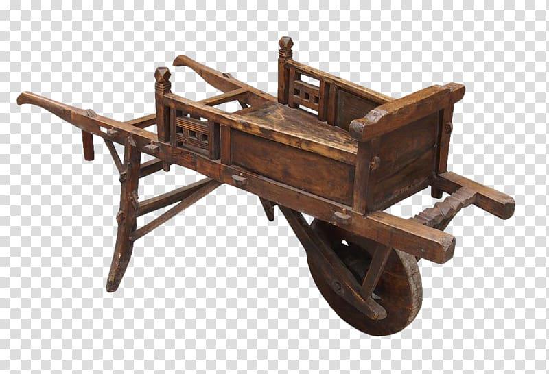 Wheelbarrow Hand truck Ox Cart Wood, wood transparent.