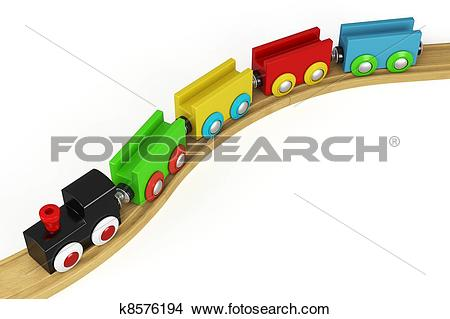 Drawings of 3d wooden toy train k8576194.