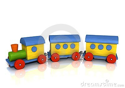 Colorful Wooden Train Royalty Free Stock Images.