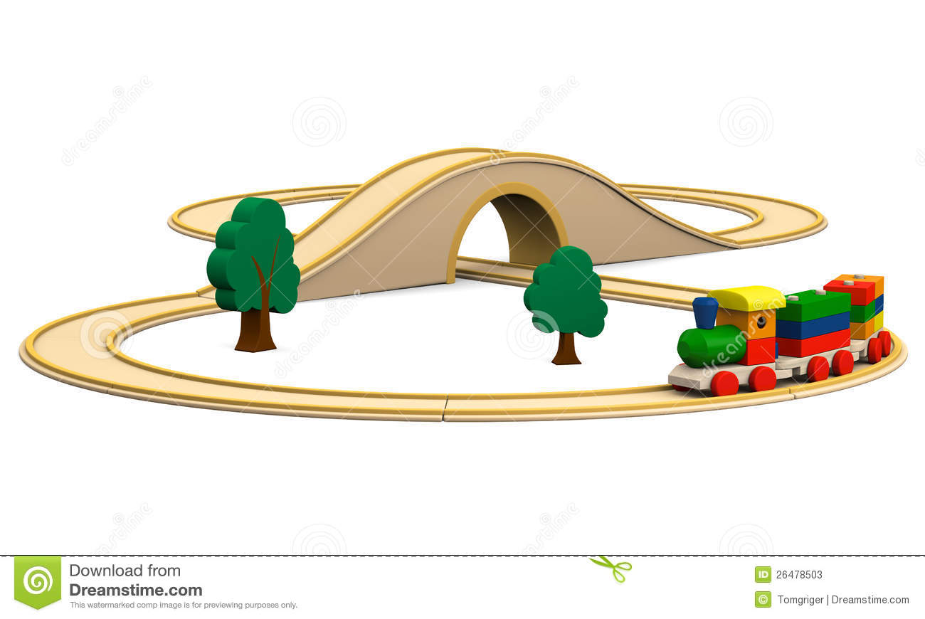 Wooden Toy Train Stock Photos.