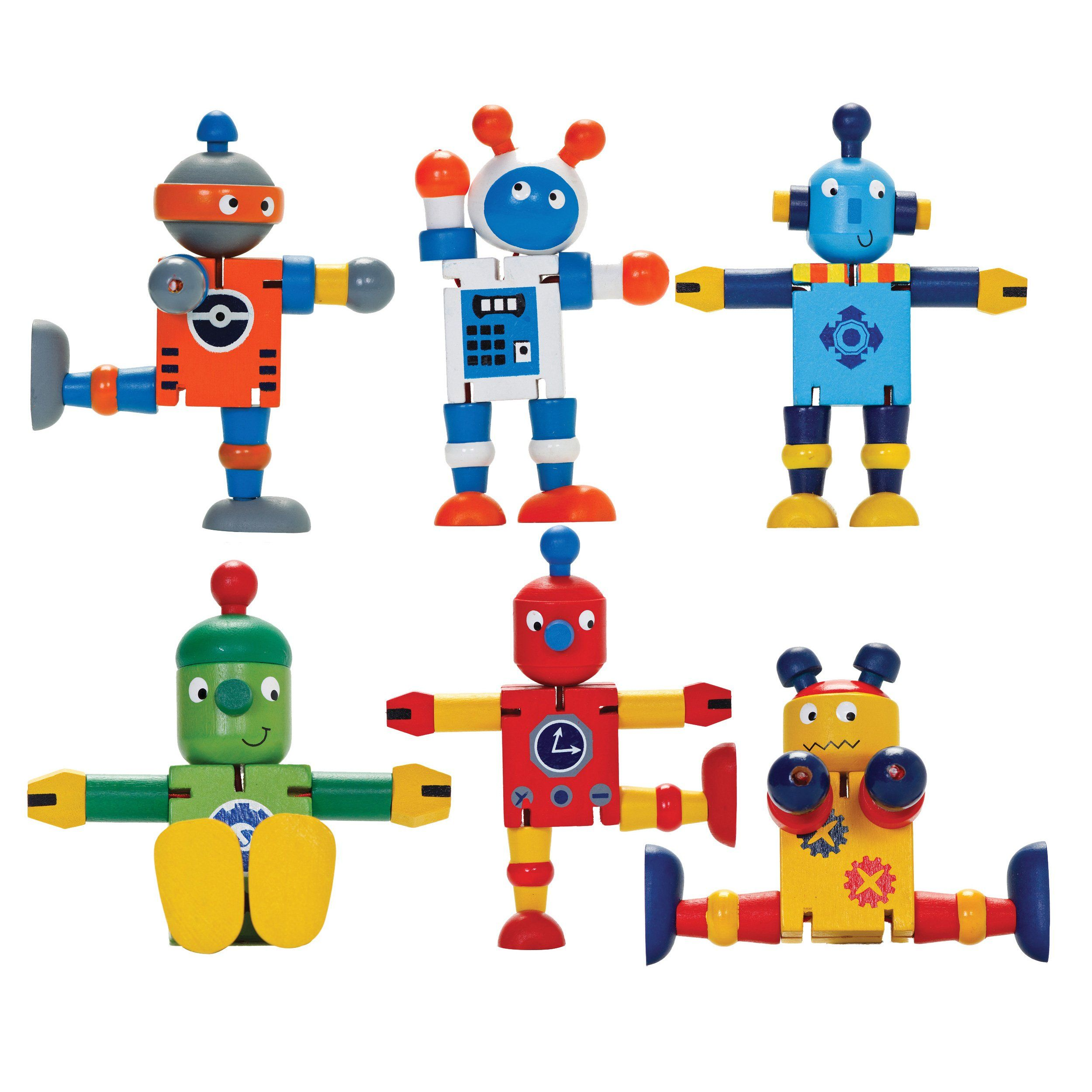 Wooden Robot Flexi Toy.