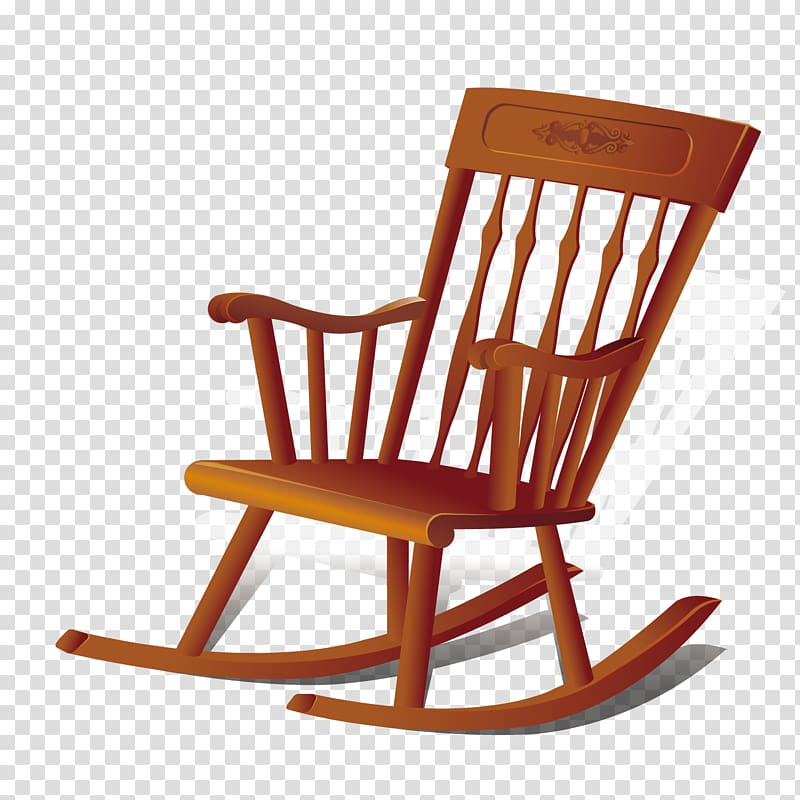 Furniture Couch Household goods Chair, wooden rocking chair.