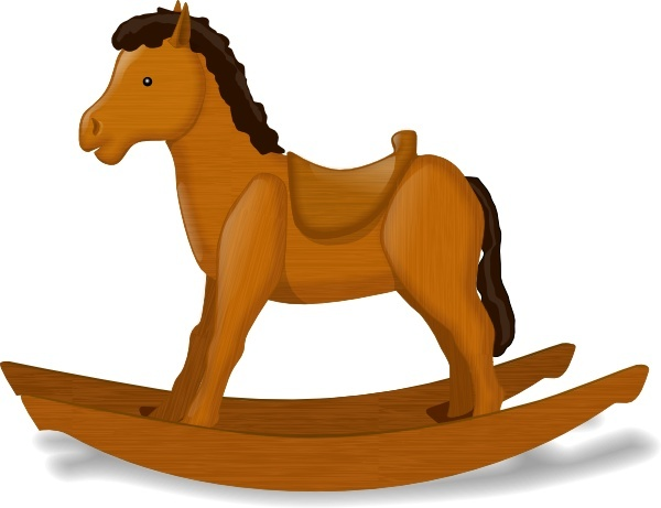 Rocking Horse clip art Free vector in Open office drawing.
