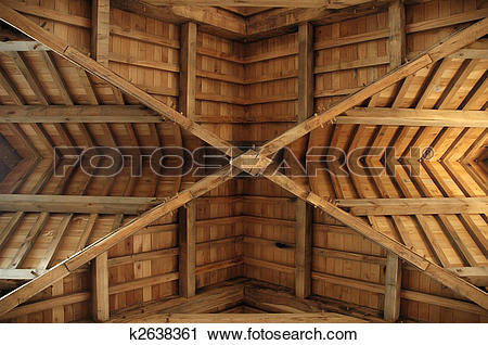 Stock Photography of Wooden roof.