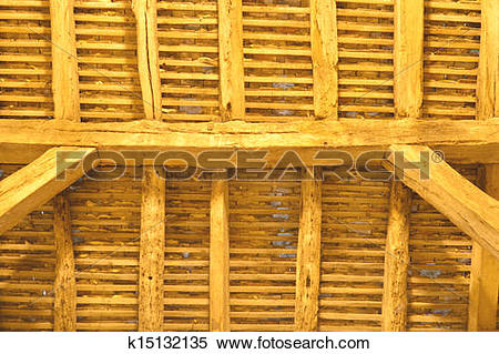 Stock Image of detail of ancient wooden roof k15132135.