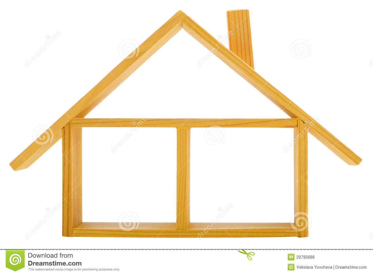House roof view clipart.