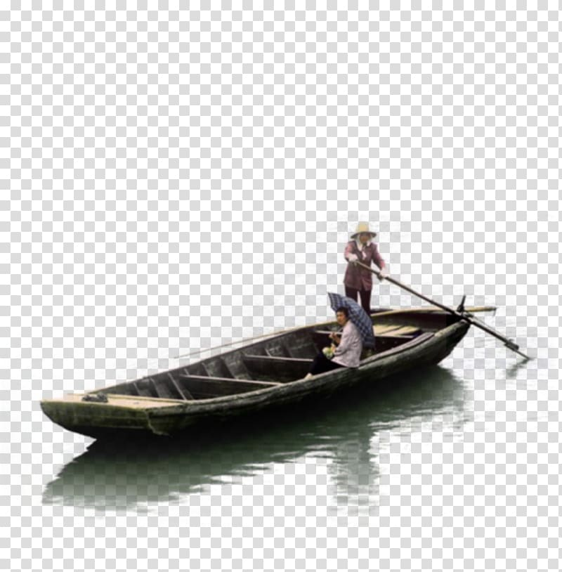 Person riding brown boat, Boat Watercraft, Wooden boat.