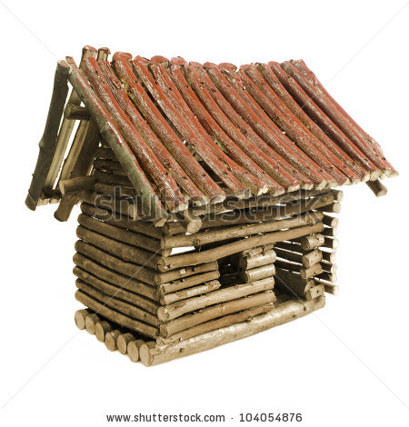 Cabin Isolated Log Stock Photos, Royalty.
