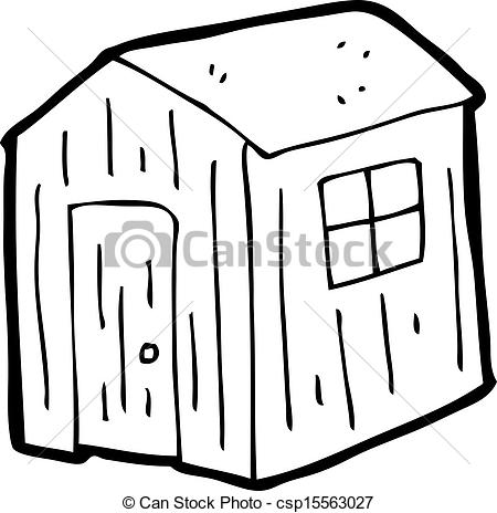 Vector Illustration of cartoon shed csp15563027.