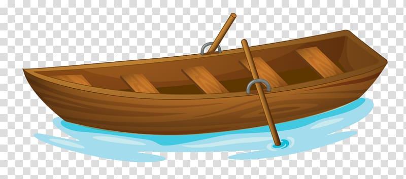 Brown wooden boat illustration, Rowing Boat Evezu0151s.