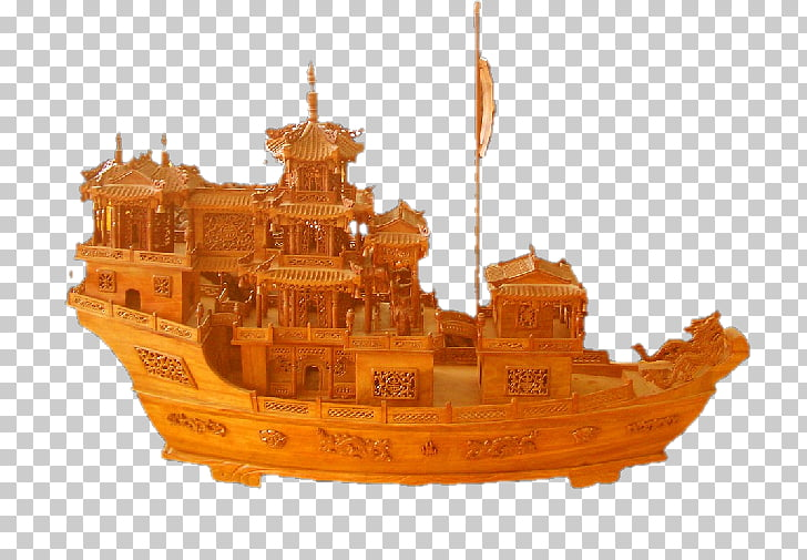 Computer file, Carved wooden boat PNG clipart.