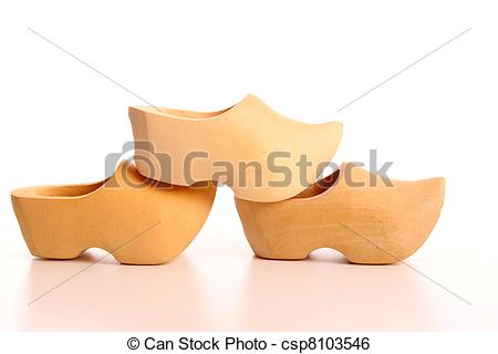 Stock Image of Dutch wooden shoes.