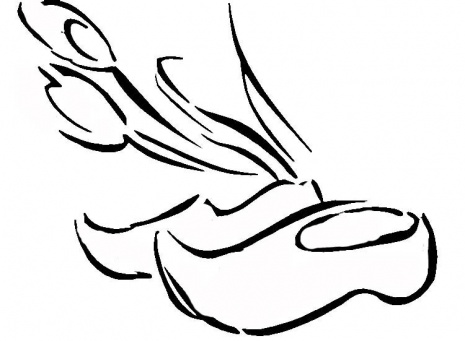 Wooden Shoes and Tulips coloring page.
