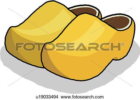 Wooden shoes Clipart EPS Images. 768 wooden shoes clip art vector.