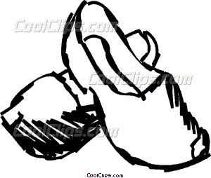 Wooden Shoes Vector Clip art.