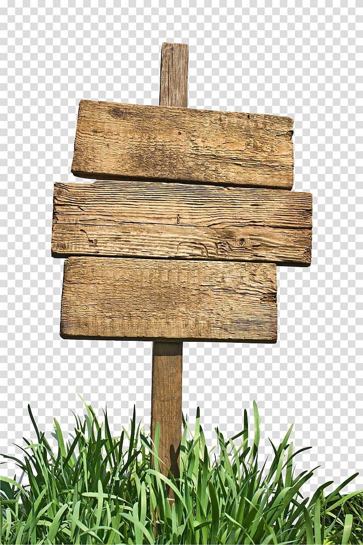 Brown wooden board signage on green grass, Sign Wood, Grass sign.