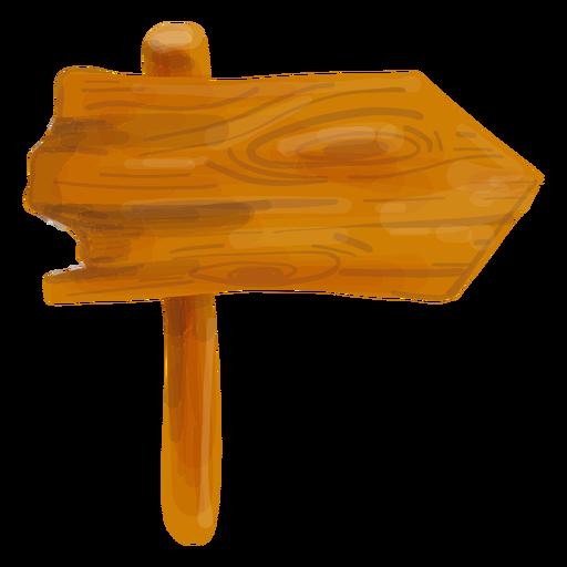 Wooden arrow sign board.