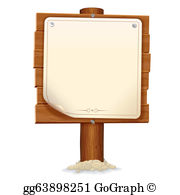 Wood Sign Clip Art.