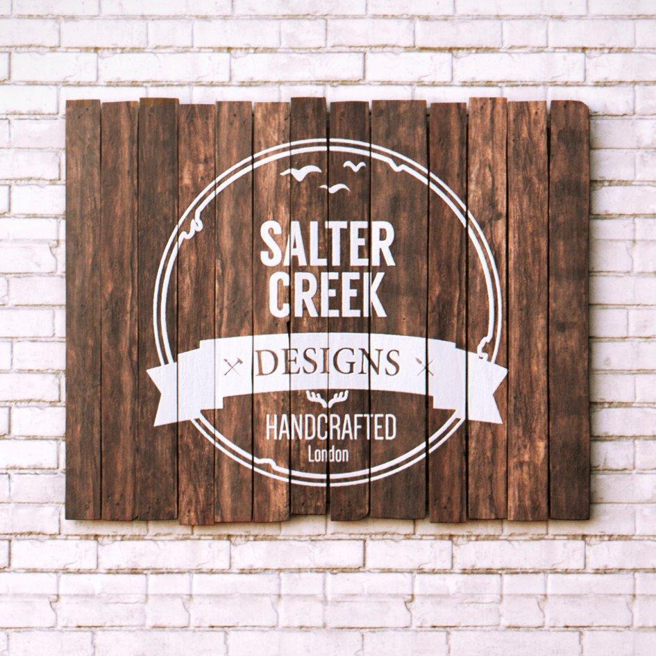 Wooden Sign Logo.