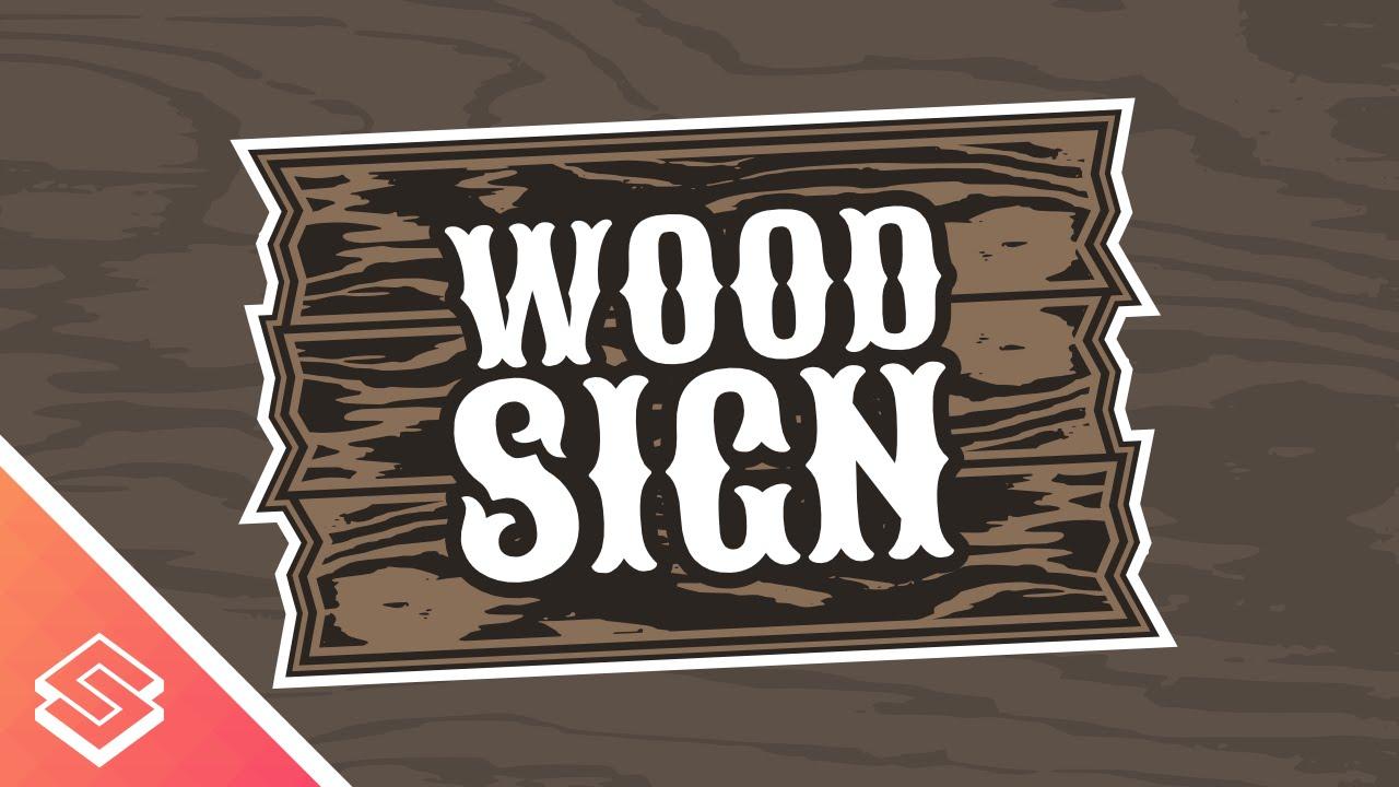 Inkscape Tutorial: Vector Wood Sign Logo.