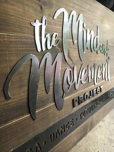 Custom Wood and Metal Sign Business Logo or Family Name.